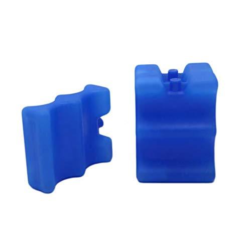 2 Botellas De Leche Materna De Pc De Almacenamiento De Botellas Y Portable Bebé Enfriador Reutilizable Bolsas De Hielo Bolsas De Congelación para Leche Materna De Almacenamiento (Azul)