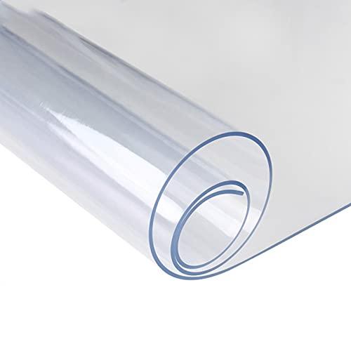 GXGX Mantel transparente de PVC para mesa de escritorio, protector de plástico, protector de mesa de 1,5 mm de grosor, resistente al agua, para mesilla de noche, A-70 x 120 cm