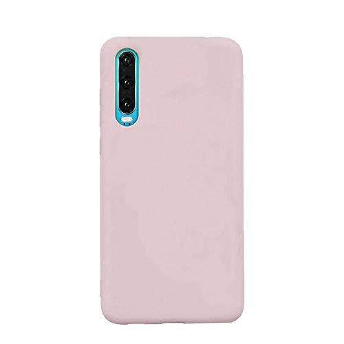 cuzz Funda para Samsung Galaxy A50+{Protector de Pantalla de Vidrio Templado} Carcasa Silicona Suave Gel Rasguño y Resistente Teléfono Móvil Cover-Rosa Claro