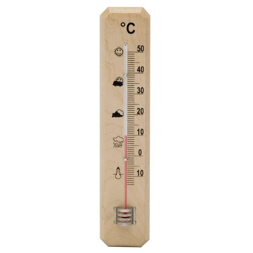 Oryx 5160604 thermometer voor muur/tuin, hout, 20 cm