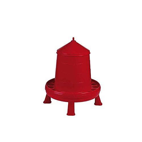 Gaun Plastic Poultry Feeder With Legs (8.8lbs) (Red)