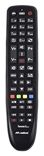 Meliconi telecomando per TV Telefunken, Personal 6 Plus, Pronto all'uso, non necessita di programmazione, Nero