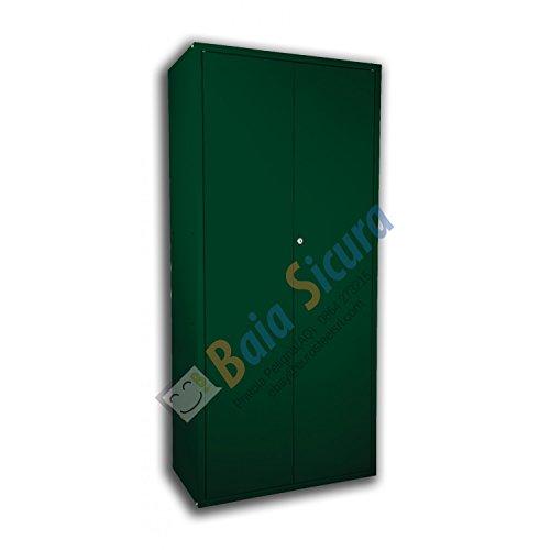 Baia Sicura Armadio Portascope 180x80x40 Colorato Verde