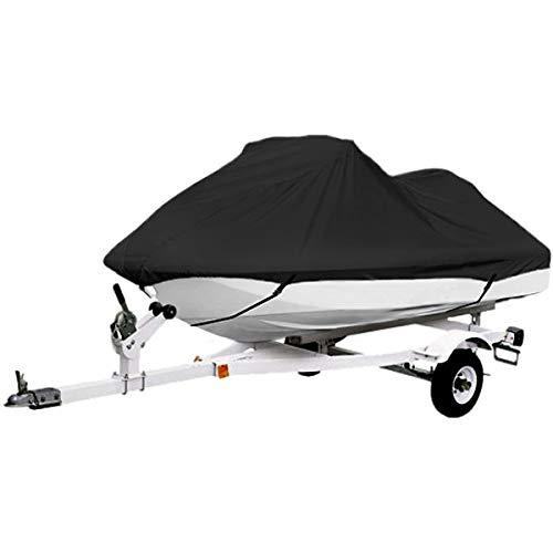 North East Harbor Black Trailerable PWC Personal Watercraft Cover Covers Fits 2-3 Seat Or 127'-135' Length for Waverunner, Sea Doo, Jet Ski, Polaris, Yamaha, Kawasaki Covers