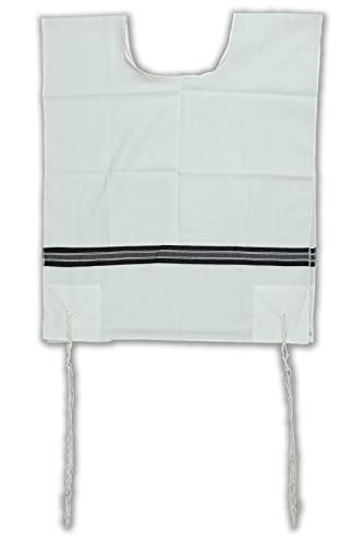 "Talitania Chabad tzitzis Wool tallit katan tzitzit kesher chabad Avodas Yad with Packaging and Tying by Peer hatchelet (Mens Size 22"")"