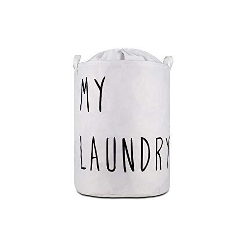 Miwaimao - Cesta de lavandería de tela Oxford plegable, paquete de admisión Zangyi, color blanco, 35 x 45