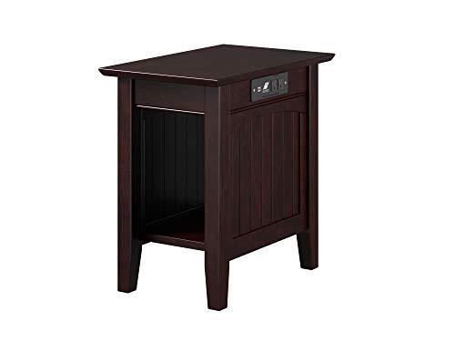 Atlantic Furniture AH13311 Nantucket Chair Side Table, Espresso