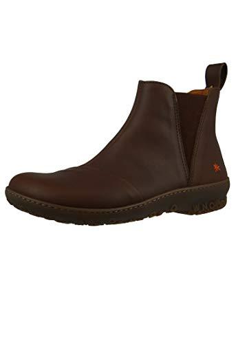 art Damen Leder Stiefelette Ankle Boot Antibes Brown Braun 1428, Groesse:39 EU