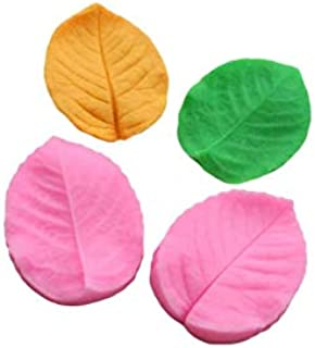 S.Han Silicone Veiner Leaf Mould Fondant Mold Baking Clay Art Cake Decoration Tools