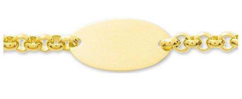 Www.diamants perles.com-- Braccialetto da bambino, identità da bambino, a maglia groumette, in oro, maglia Jaseron