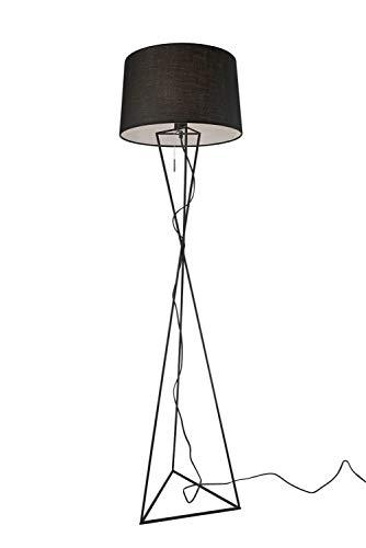 Villeroy&Boch New York Lampadaire Métal 60W Noir H 150cm Ø 40cm