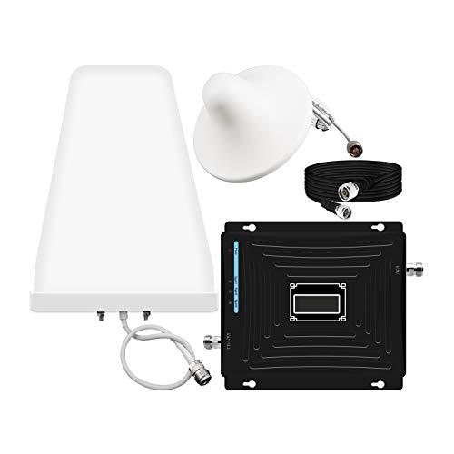 Elrefuerzo de la señal de la señal del teléfono celular, el repetidor del amplificador de señal de tri-banda 2G 3G 4G, mejora sus datos de voz celulares en la oficina de inicio GSM DCS WCDMA hasta