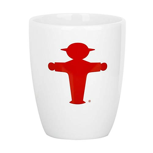 Ampelmann Wachmacher Tasse weiß mit Steher rot ca. 250 ml, Kaffeetasse Kaffeepott Tasse Cappuccino
