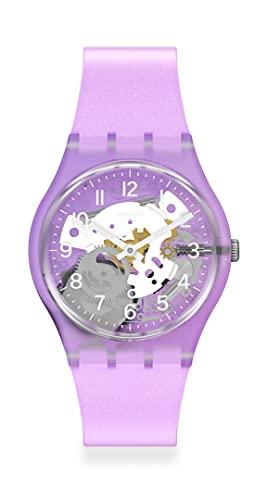 견본 겐트 스탠다드 쿼츠 실리콘 스트랩 보라색 16 캐주얼 시계 (모델 : GV136)