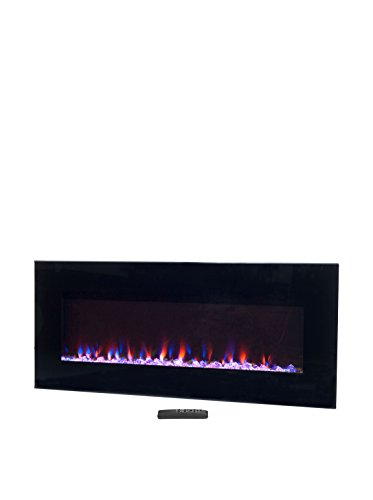 Northwest Electric Fireplace Wall Mounted LED Fire and Ice Flame, with Remote, 42', Black