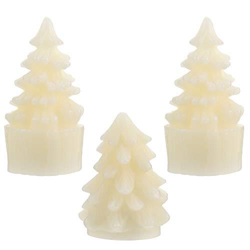 Velas sem chama de LED de Natal Uonlytech, vela decorativa sem fumaça para decoração de festa de Natal (conforme mostrado)