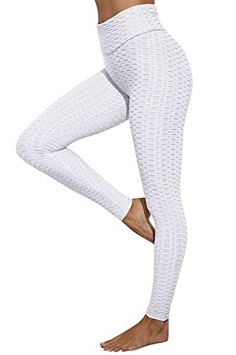 heekpek Pantalones Deportivos Leggings Elásticos Patrón de Mallas Mujer para Yoga Ejercicio
