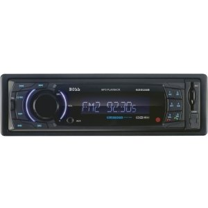 Boss 625UAB Car Flash Audio Player - 200 W RMS - iPod/iPhone Compatible - Single DIN - LCD Display - MP3 - AM, FM - 18, 12 x FM, AM Preset - Secure Digital (SD) Card, MultiMediaCard (MMC) - Bluetooth - USB - Auxiliary Input - Detachable Front Panel - 625UAB