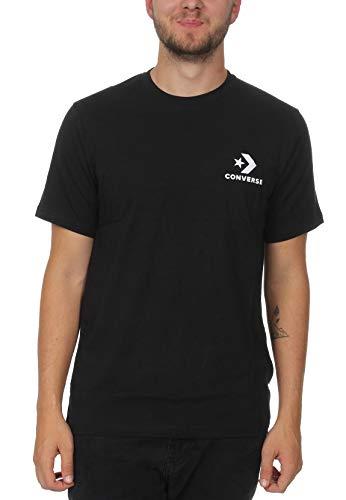 Converse Left Chest Star Chevron T-Shirt Tee BLK – , Homme, Noir (Black) S Noir