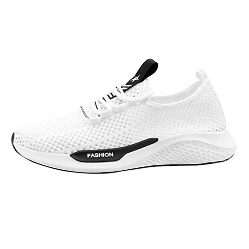 Dtuta Laufschuhe Sneaker für Herren Turnschuhe Sportschuhe Straßenlaufschuhe Atmungsaktiv rutschfest Trainer für Running Fitness Gym Outdoor Runner Cross Trainer Schuhe Black,White,Red