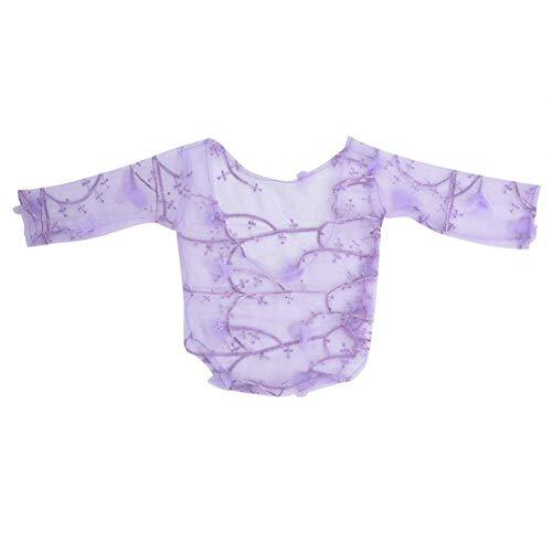 Baby Suit Lace Kleding Bloemblaadje Props Props Photo Shooting Accessoires voor pasgeboren Purple,Purple