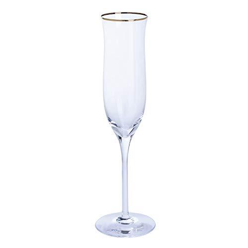 Dartington Cristal Célébration Or flûtes Clair,