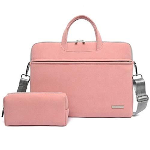 DANGAO Bag Sleeve Laptop Case Women Business Bags Shoulder Bags (Color : Pink Sets, Size : 13.3 inch)