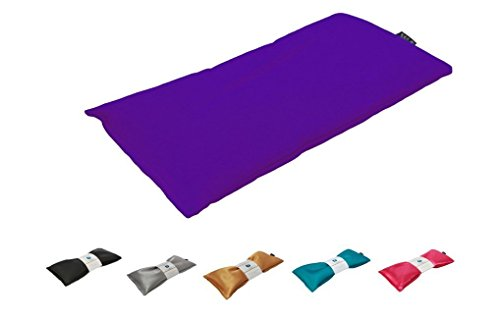 Unscented Eye Pillow - Migraine, Stress & Anxiety Relief - #1 Stress Relief Gifts - Made in USA, Organic Flax Seed Filled, Microwavable (Purple - Organic Cotton)