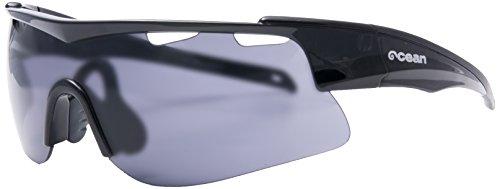 Ocean Sunglasses - Alpine - lunettes de soleil - Monture : Blanc/Rouge/Arc-en-ciel - Verres : Fumée (93000.3)