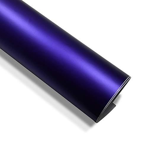 folimac 10 €/m² Violett Chrom Matt Metallic Autofolie Blasenfrei mit Luftkanäle (15meter x 152cm)