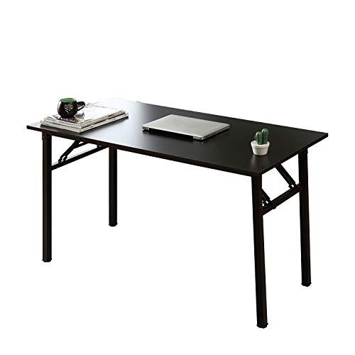 SogesHome Scrivania per computer,Scrivania pieghevole, Tavolo da Studio,Scrivania da ufficio, per l'ufficio domestico,120 x 60 x 75 cm Nero,AC5CB-120-SH