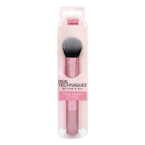 Real Techniques instapop® - Brocha para colorete y maquillaje de mejillas(el color del paquete y del mango puede variar)
