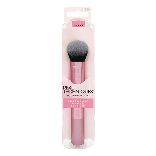 Real Techniques Instapop Cheek Brush - Brocha para Mejillas, Negro/Rosa