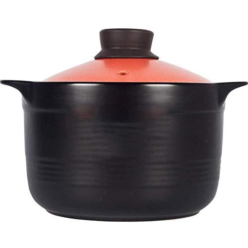 PIVFEDQX Clay Casserole Pot Ceramic Casserole Terracotta Stew Pot Clay Cooking Pot – High Temperature Resistance, Heat Preservation, Non-Stick, 5.2L Capacity-5.2L_A Capacity