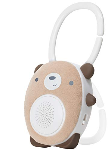 SoundBub de WavHello Haut-Parleur Relaxant pour le Sommeil de Bébé   Diffuseur de Bruit Blanc Bluetooth   Compagnon Idéal pour le Repos du Nouveau-Né   Portable, Rechargeable   Benji l'Ours, Brun