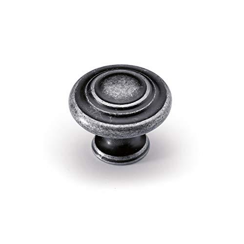 Möbelknopf Essa, Zinn Optik antik