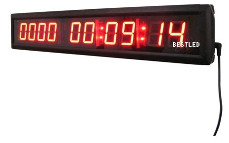 BESTLED Red Days Countdown Clock 10 Digits Count up 10000 Days Hours Minutes Seconds LED Large Digital Countdown Clock IR Remote Control Aluminum Case