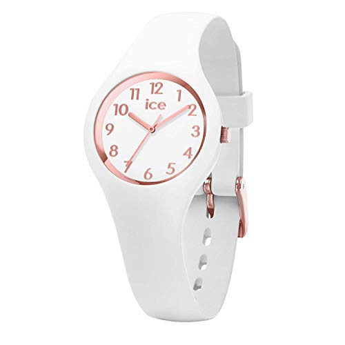 Ice-Watch - ICE glam White Rose-Gold - Women's wristwatch with silicon strap - 015343 (Extra small)