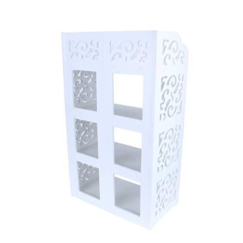 Lshbwsoif Zapatero de 4 niveles para zapatillas, estante organizador de almacenamiento, color blanco para armario ordenado, pasillo o dormitorio