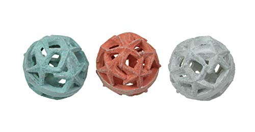 Fancy That Set of 3 Resin Starfish Orb Accessories Decorative Table Balls Accent Decor