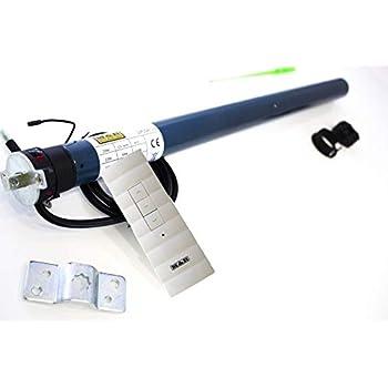 incluye mando a distancia de 4 canales con Timer integrado TDRCT 04 JAROLIFT 1x Motor tubular electr/ónico para persianas TDEF 10 Nm//14