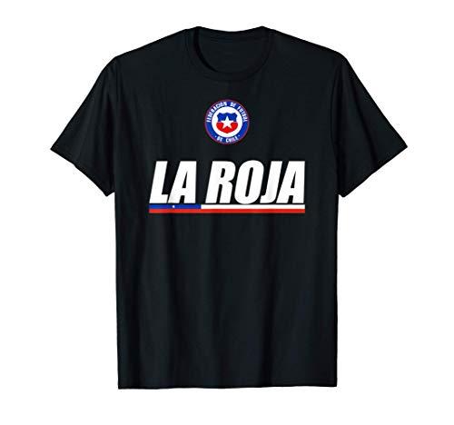 La Roja Chilean Futbol Camiseta Republic Of Chile Soccer Fan Camiseta