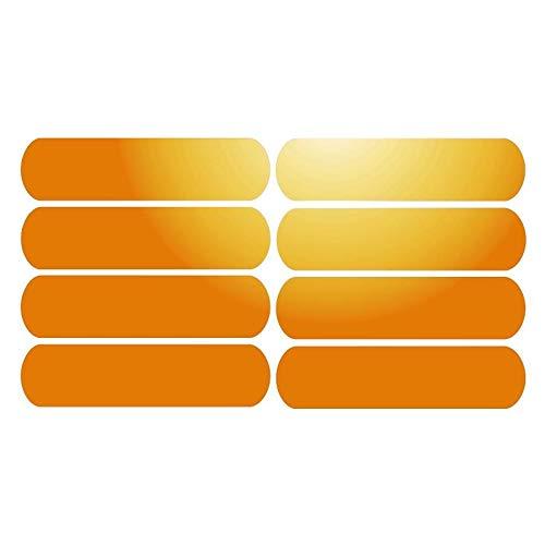 8Klebestreifen, reflektierend für Helme auf 8x 2cm–orange reflektierend
