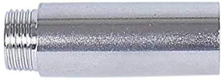 Soytich Extensión de grifo de acero inoxidable, 1/2 pulgadas, longitud de 1 hasta 10 cm (extensión del grifo) (10 cm)