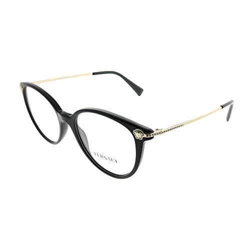 Versace 0Ve3251B Cornici in vetro, nero, 56 Donna