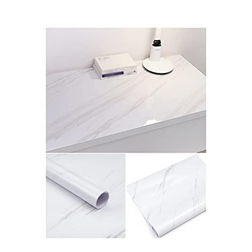 XJRS Etiqueta engomada de mármol, Etiquetas engomadas del Material del PVC para el Estudio del Dormitorio del gabinete(Size:79×200cm,Color:A)