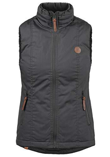 DESIRES Tilia Damen Weste Outdoor-Weste Mit Warmem Stehkragen, Größe:XL, Farbe:Dark Grey (2890)