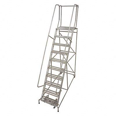 Cotterman 1012R2632A3E20B4C1P6 - Rolling Ladder 162 in.H 59 deg. Serrated