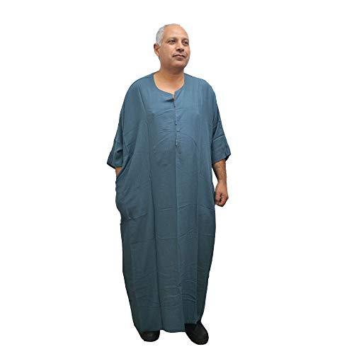 Chilaba, Djelaba, Galabeya, Baumwolle Kandora, marokkanisch, eine Größe für alle und sogar sehr dicke Menschen, misst 85 cm breit und 150 cm lang. Es schrumpft nicht (Petroleo)
