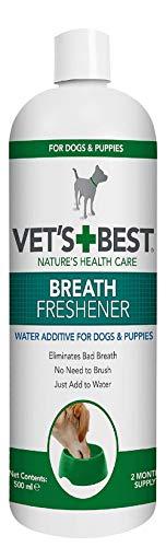 Vet\'s Best Aditivo de Agua refrescante para respiración Dental para Perros, 500 ml